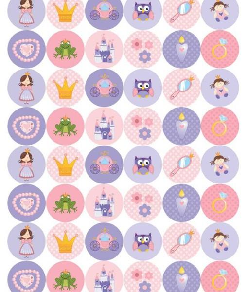 Sticker_rund_Prinzessin