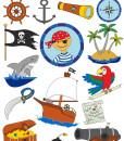 wetterfeste Sticker Piraten
