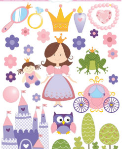 wetterfeste Sticker Prinzessin