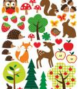 wetterfeste Sticker Waldglück